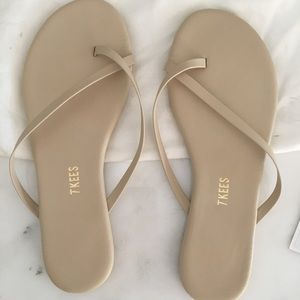 581f0ab89eb tan flip flops by TKEES